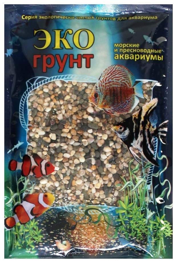 Грунт для аквариума ЭКОгрунт Галька Феодосия №0 2 - 5 мм 3,5 кг