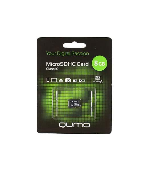 Карта памяти QUMO Micro SDHC QM8GMICSDHC10NA 8GB