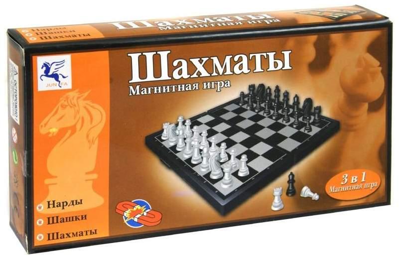 Набор 3 в 1: шахматы, шашки, нарды Shantou Gepai в коробке 8188-2