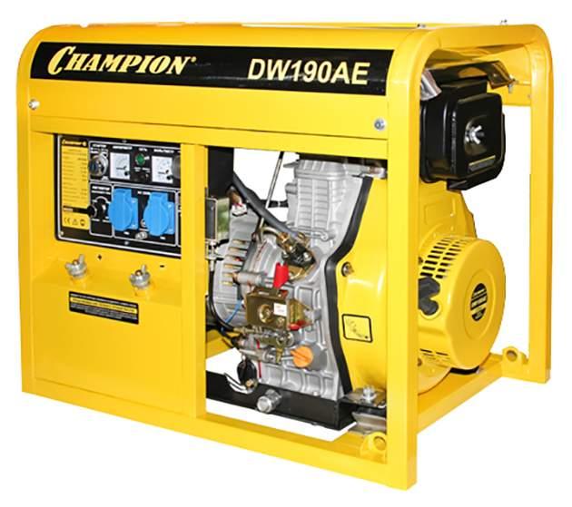 Дизельный генератор сварочный Champion DW190AE