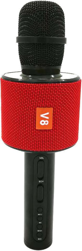 Беспроводной караоке-микрофон V8 Red