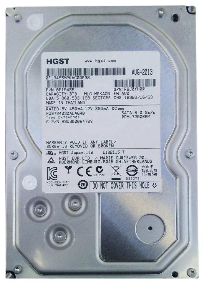 Внутренний жесткий диск HGST Ultrastar 7K4000 3TB (HUS724030ALA640)