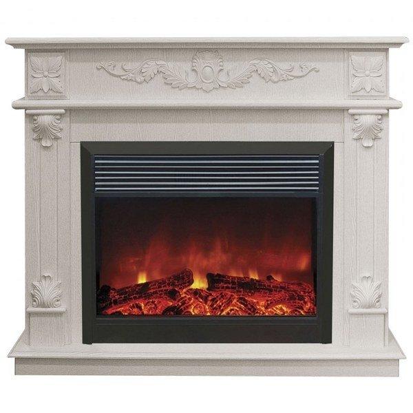 Бытовой каминный комплект Real-Flame Philadelphia 25,5/26 WT с очагом Moonblaze lux Bl/Br
