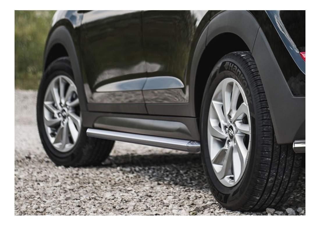 Защита порогов RIVAL для Hyundai (R.2308.004)