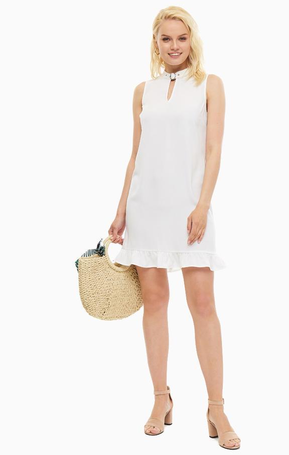 Фасоны белого короткого платья фото