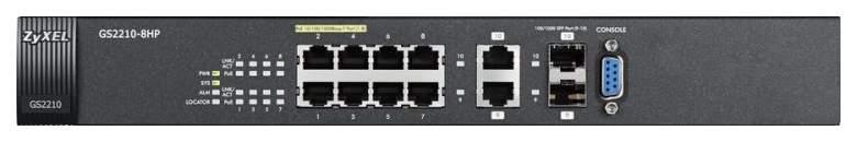 Коммутатор ZyXEL GS2210-8HP Черный