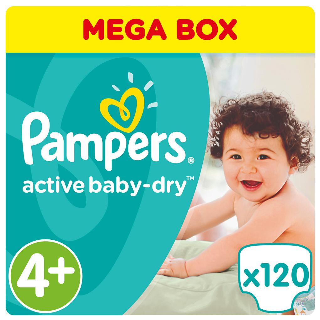 Подгузники Pampers Active Baby Maxi Plus 4+ (9-16 кг), 120 шт.