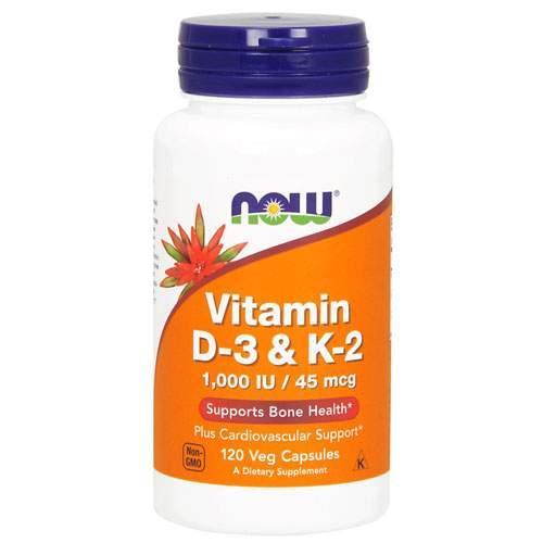 Витамин D NOW Sports Vitamin D3 and K2 120 капсул