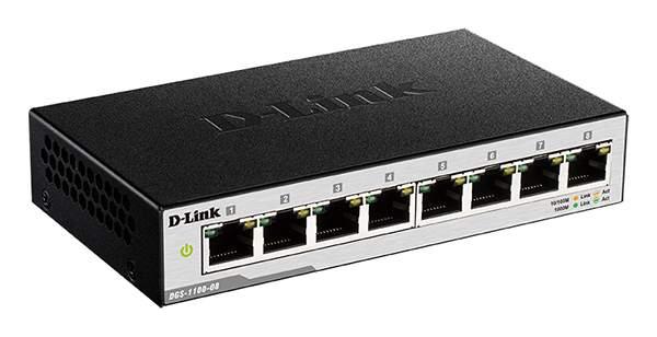Коммутатор D-Link DGS-1100-08/B1A Black
