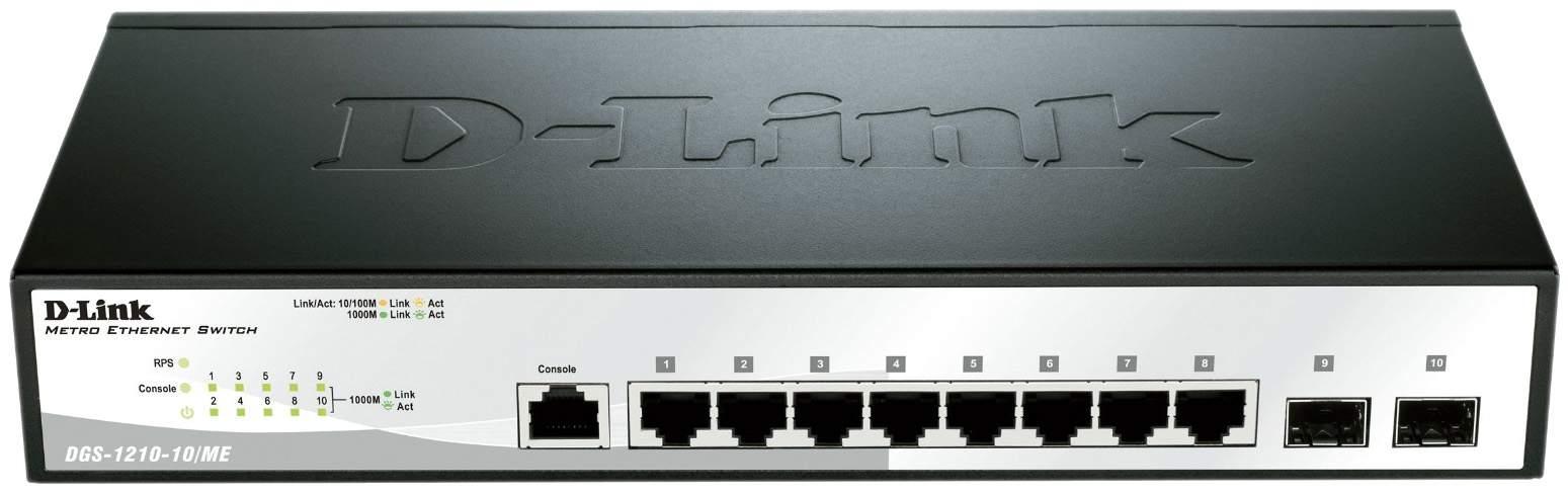 Коммутатор D-Link Metro Ethernet DGS-1210-10/ME/A1A