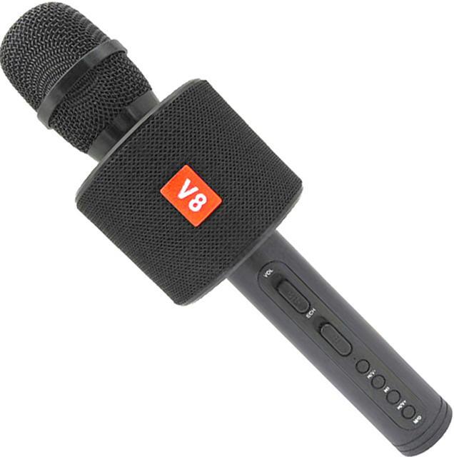 Беспроводной караоке-микрофон V8 Black