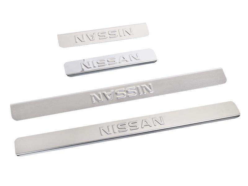 Накладки на пороги Nissan X-Trail T31 2007-2014 Dollex NPS-031