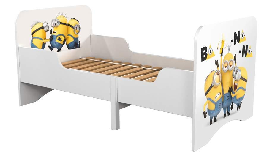 Детская раздвижная кровать Polini kids Fun 3200 Миньоны, желтый