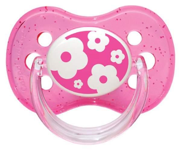 Пустышка силиконовая круглая Canpol Babies Nature 6-18 мес 22/435, Розовая