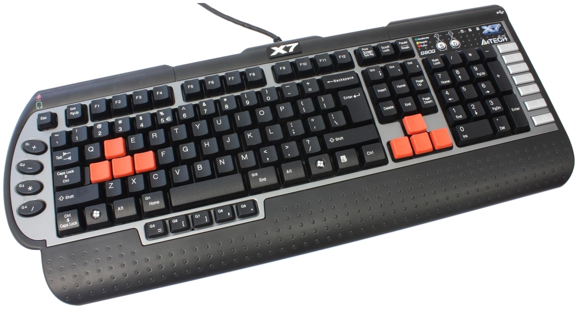 Игровая клавиатура A4Tech X7-G800MU Grey/Black