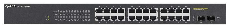Коммутатор ZyXEL GS1900-24HP Черный