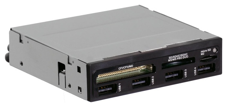 Устройство для чтения карт памяти Ginzzu GR-137UB Серебристый черный