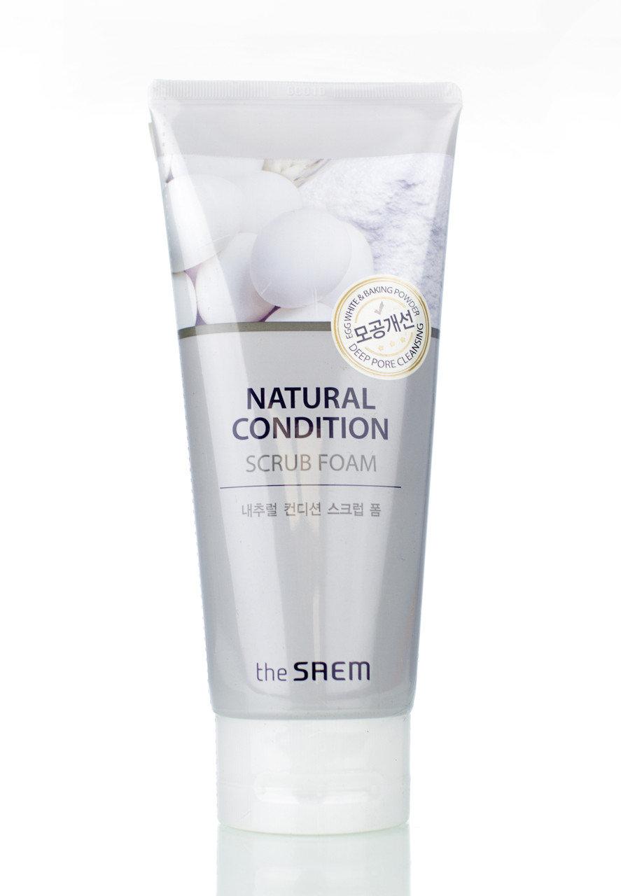 Пенка-скраб для лица THE SAEM Natural Condition Scrub Foam 150мл