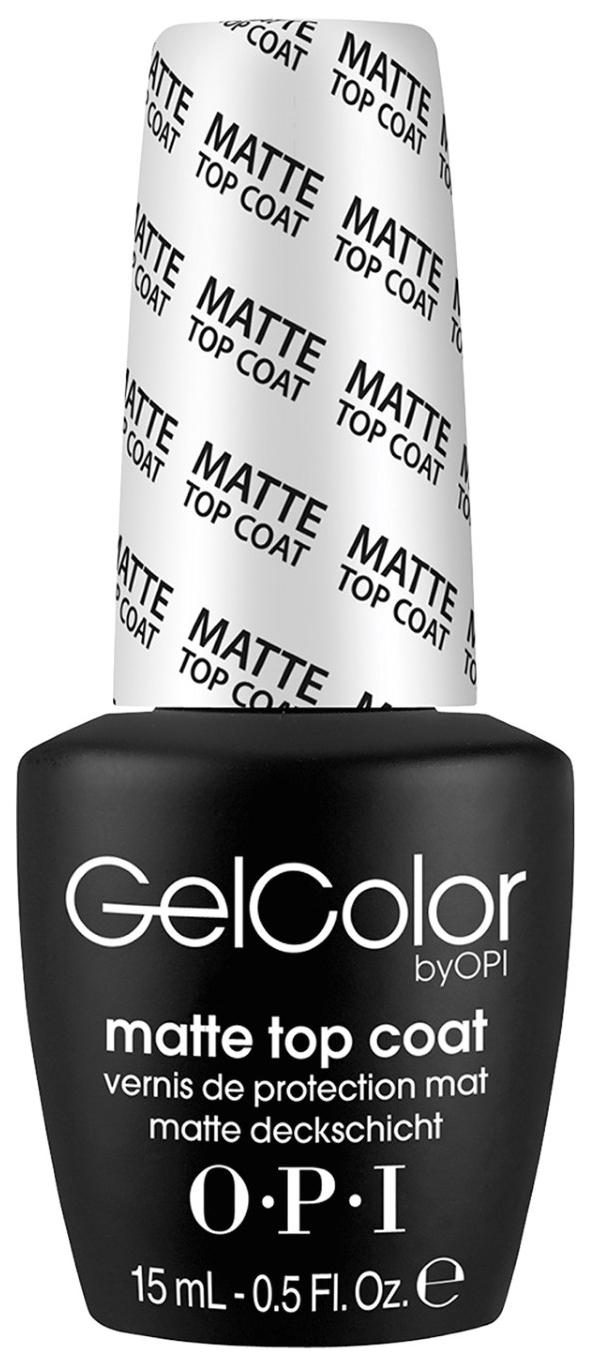 Закрепитель лака для ногтей OPI Gelcolor Matte Top Coat 15 мл