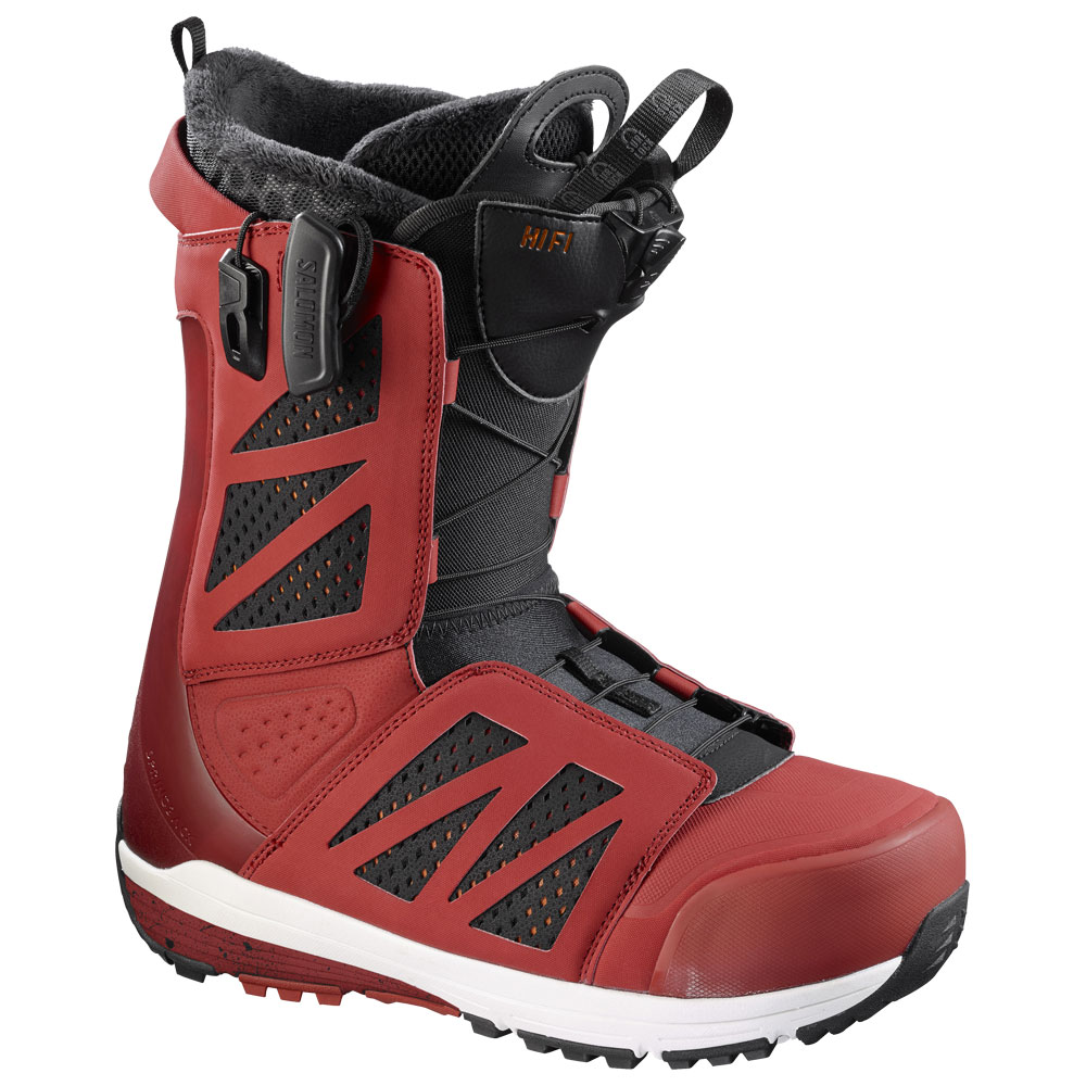 Ботинки для сноуборда Salomon Hi-Fi 2017, red black/quick/white, 26.5
