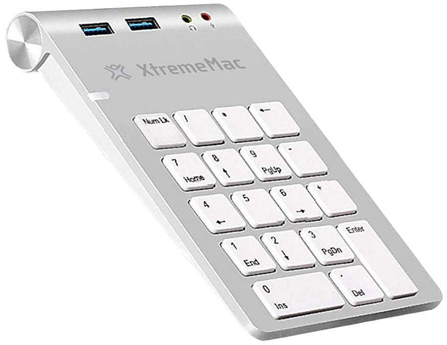Клавиатура Xtrememac Numpad With Hub Silver (XM-NPHUB32-AU-SLV)