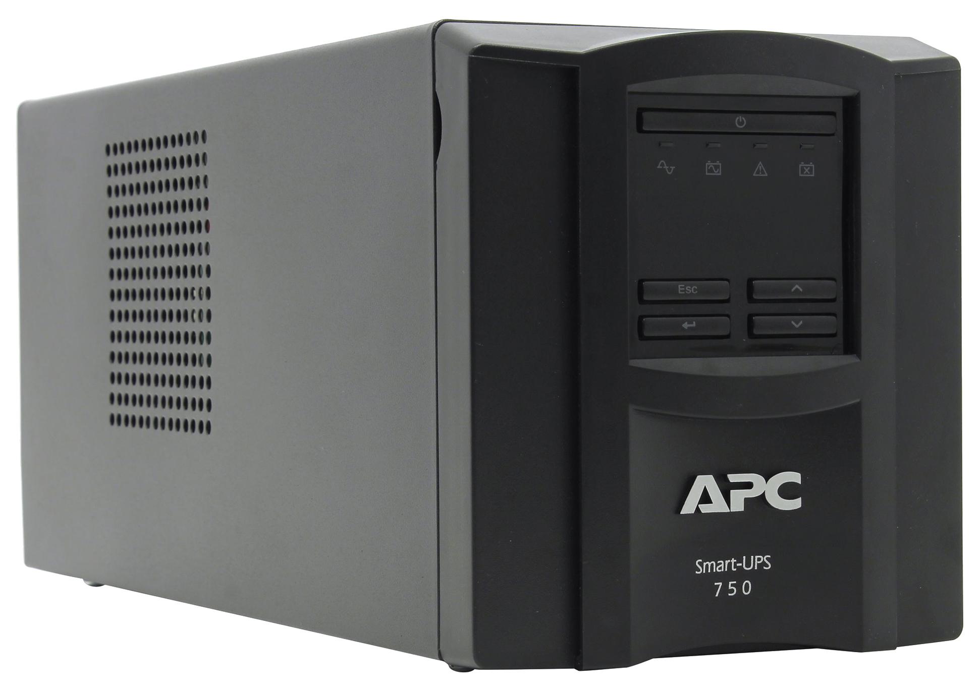 Источник бесперебойного питания APC SMART SMT750I Черный