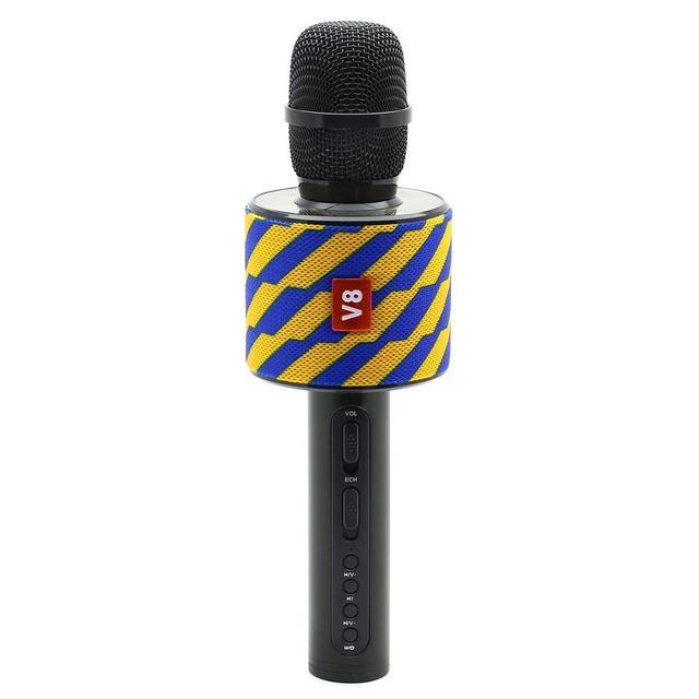 Беспроводной караоке-микрофон V8 Blue/Orange