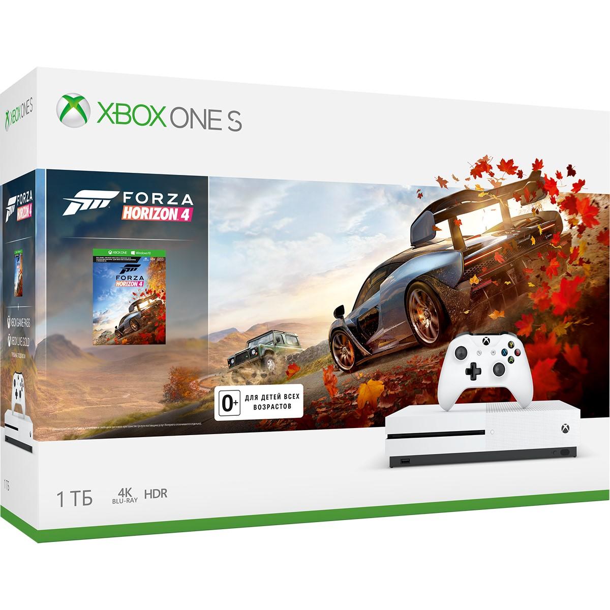 Игровая приставка Microsoft Xbox One S 1Tb+Forza Horizon 4+APEX LEGENDS+ANTHEM+OKKO 1 мес.