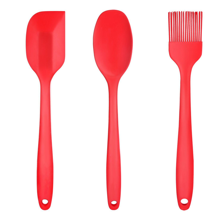 Набор кулинарных силиконовых лопаток (2 лопатки и кисть)