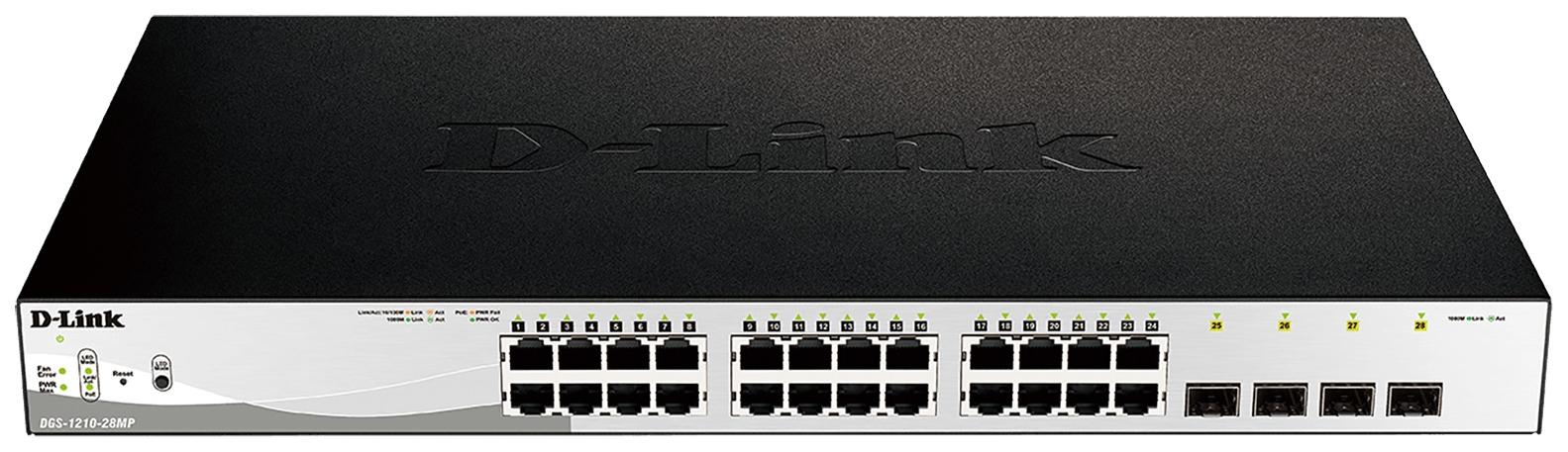 Коммутатор D-Link Web Smart DGS-1210-28MP/E1A Grey/Black