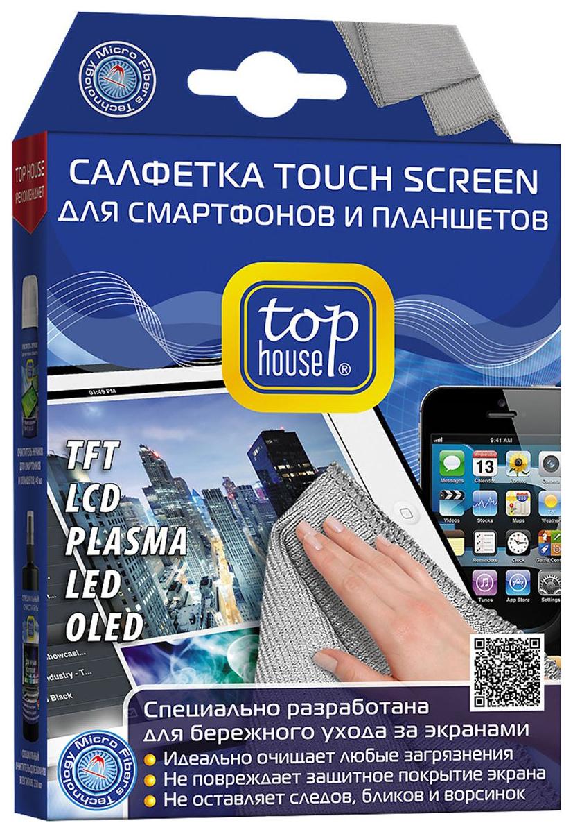 Салфетка для экранов Top House 391589 TOUCH SCREEN 15х20 см