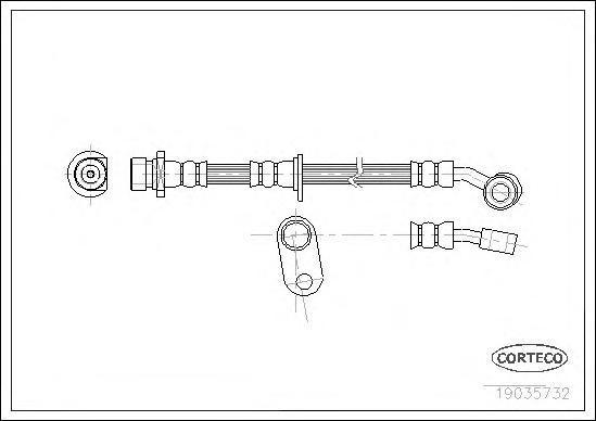 Шланг тормозной системы Corteco 19035732