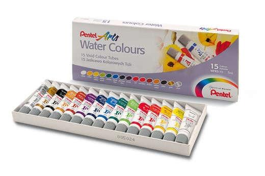 Акварель Pentel Water Colours 15 цветов