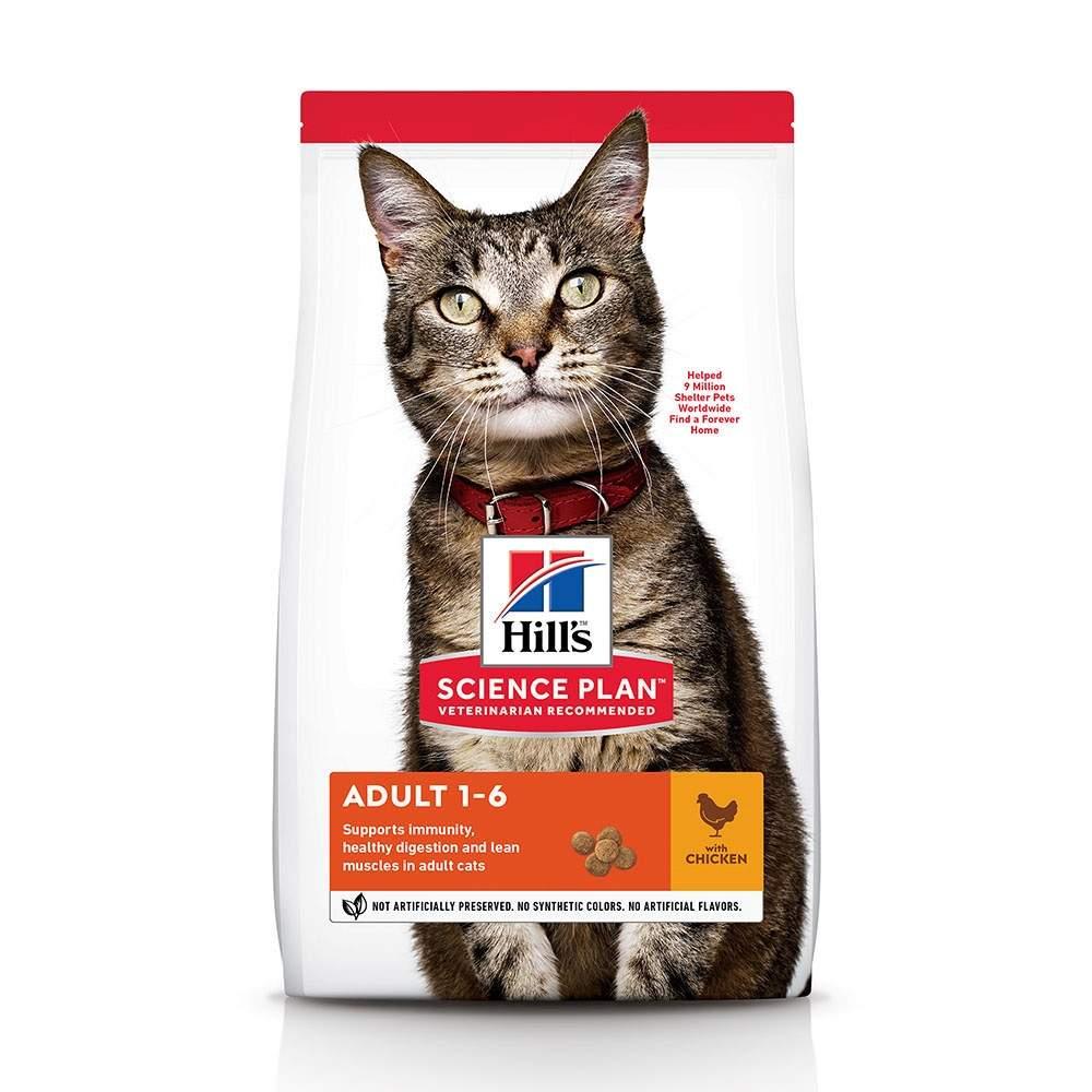 Сухой корм для кошек Hill's Science Plan Optimal Care, курица, 15кг