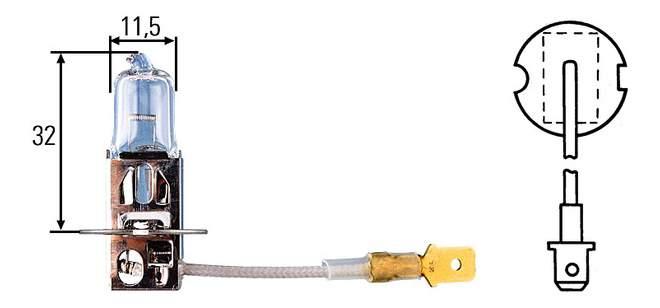 Лампа галогенная Hella 70W PK22s 8GH 002 090-251