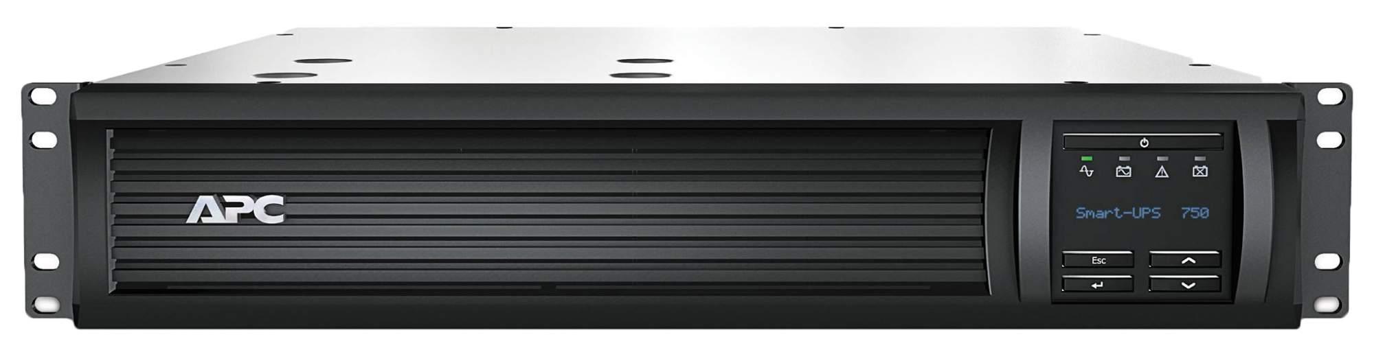 Источник бесперебойного питания APC SMART SMT750RMI2U Серый, Black
