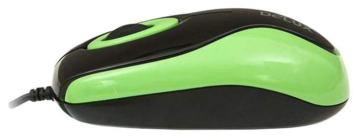 Мышь Delux DLM-363B Зеленая; Черная