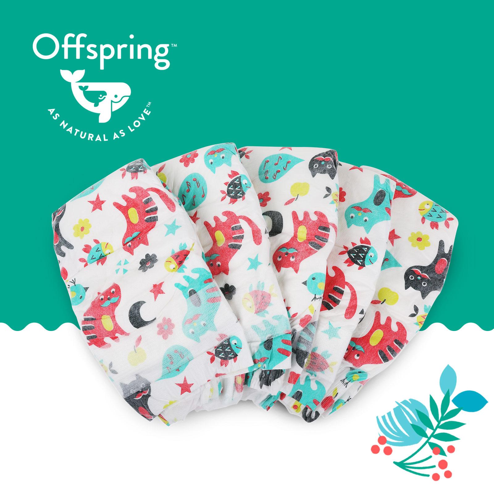 Подгузники Offspring S 3-7 кг. 48 шт. Котики