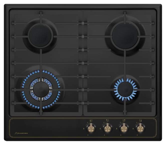 Встраиваемая варочная панель газовая Schaub Lorenz SLK GZ6520 Black
