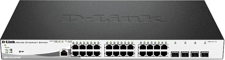 Коммутатор D-Link DGS-1210-28P/ME/A1A Black/White