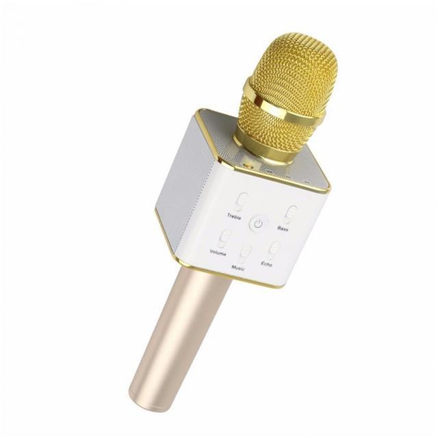 Беспроводной караоке-микрофон Q-7 Gold