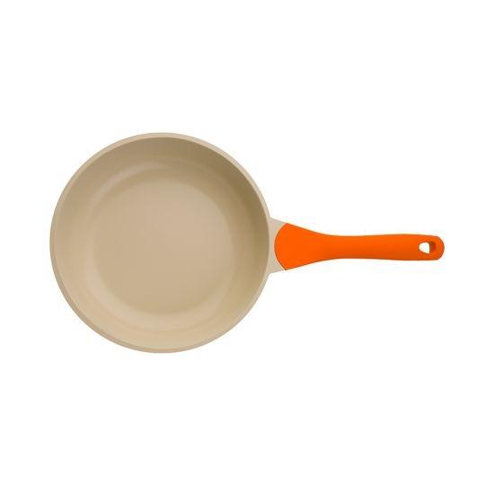 Сковорода BIOSTAL Bio-FP-26 оранжевый/бежевый 26 см