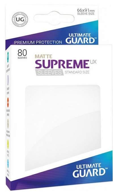 Протекторы Ultimate Guard матовые белые Supreme UX Sleeves Standard Size Matte White