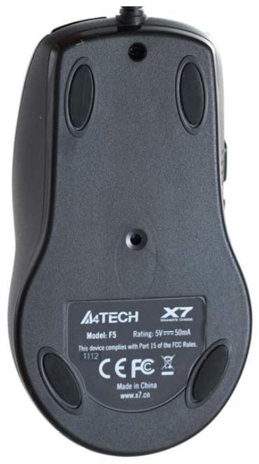 Проводная мышка A4Tech V-Track F5 Black