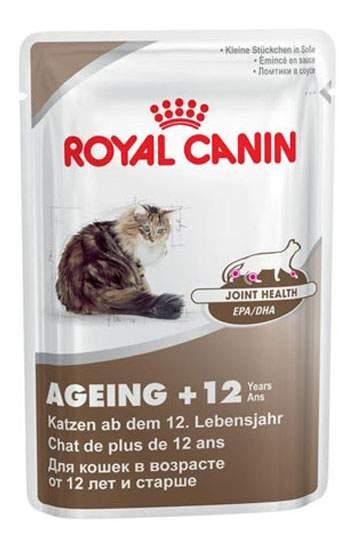 Влажный корм для кошек ROYAL CANIN Ageing+12, домашняя птица, 12шт, 85г
