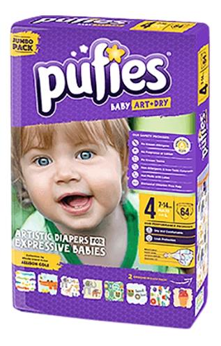 Подгузники Pufies Baby Art Dry Maxi 64 (7-14кг)