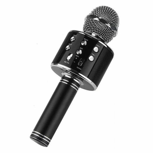 Беспроводной караоке-микрофон WS-858 Black