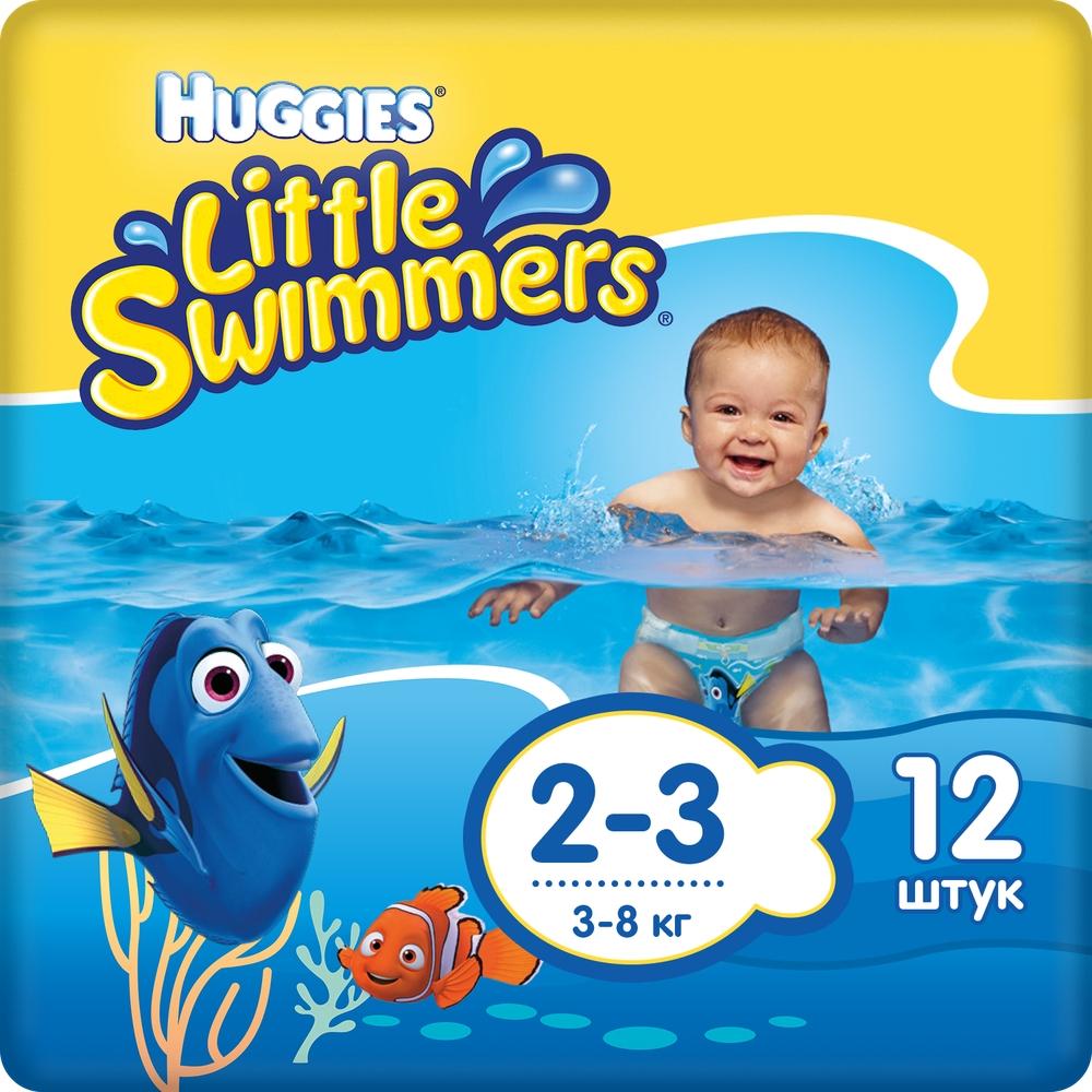 Подгузники Huggies Huggies Little Swimmers (3-8 кг), 12 шт.