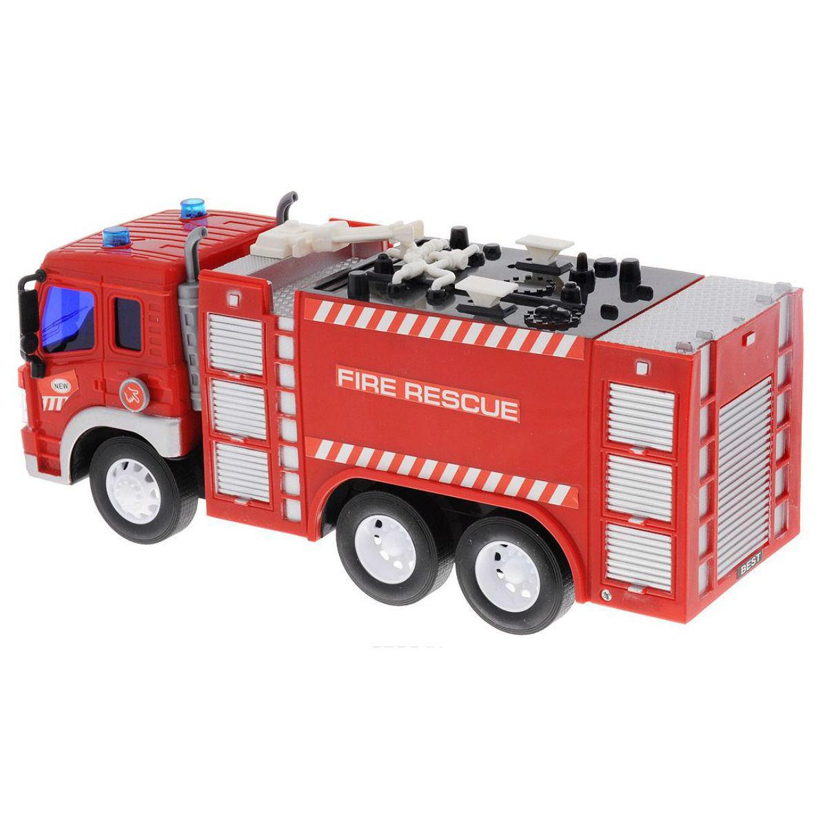 Машина Пожарная 1:16, от 3-х лет, инерционная, световые и звуковые эффекты ABtoys