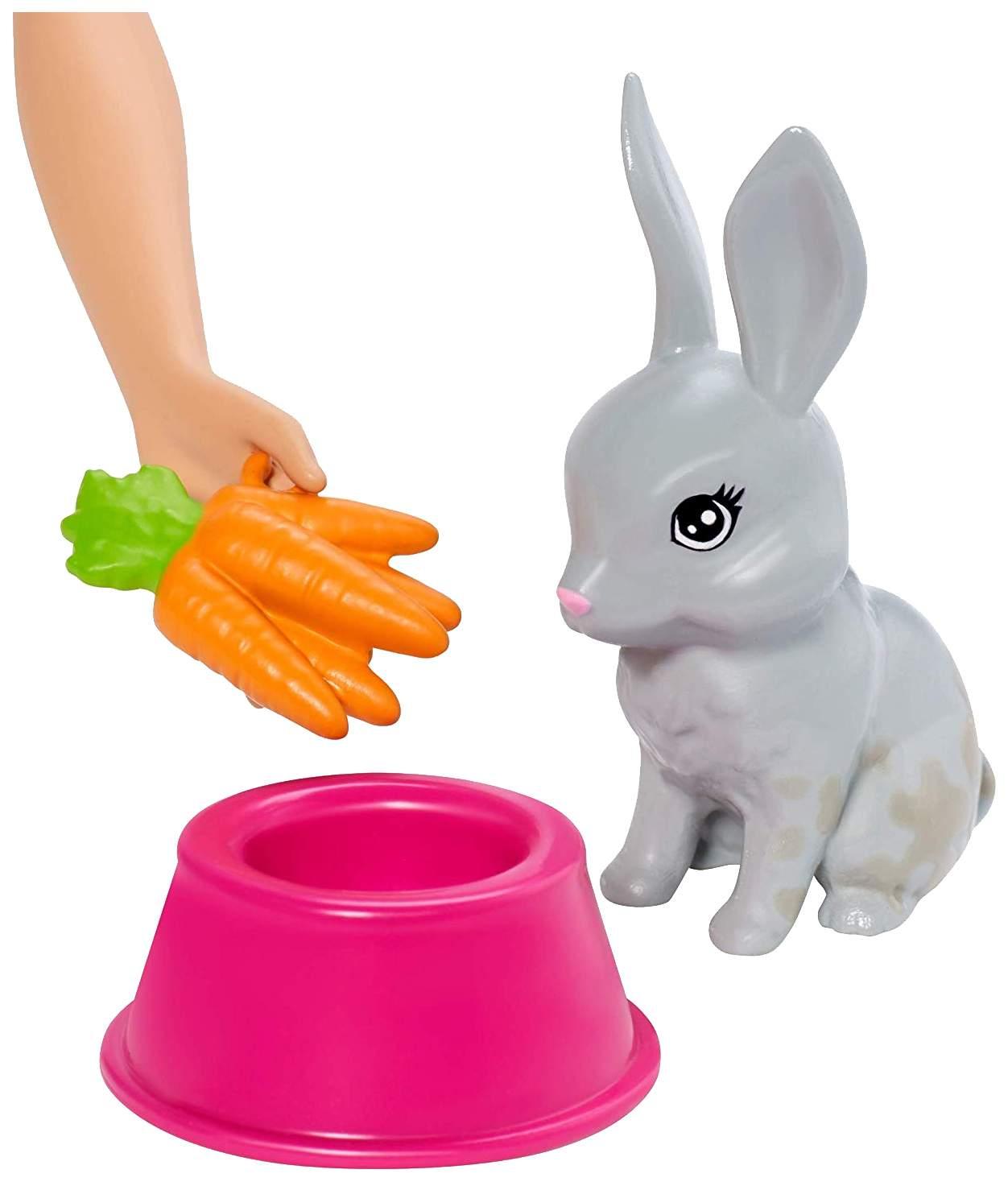 """Миниатюра Игровой набор """"Барби"""" - Блондинка с питомцами, меняющими цвет Mattel №6"""
